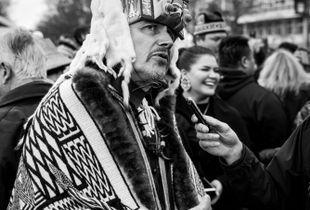 Haida Chief and Master Carver 7idansuu (Edenshaw)