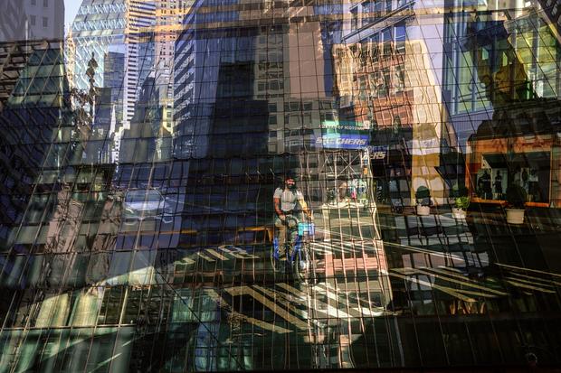 New York. Manhattan reflections