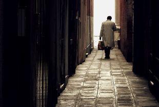 Man in alley
