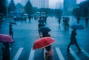 Rainy day in Pyongyang
