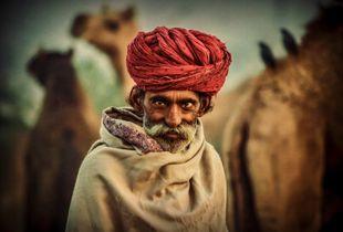 Old Rajasthani man