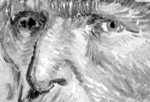 """Vincent van Gogh, """"Self-Portrait"""" (detail). Paris, France"""