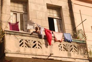 Havana, Cuba,  laundry day lady