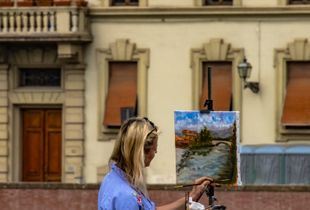 Landscape Artist In Florence, Italy