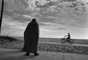 Man with blanket