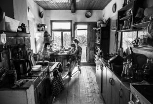 In the old kitchen