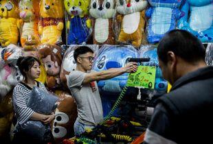 Attenta à la fête foraine de Tainan