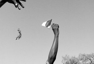 Launch of paper airplanes