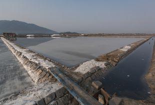Empty Salt Field in Vietnam