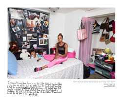 TRACY, 51, who was incarcerated for 24 years, in her own apartment three-and-a-half years after her release. Jamaica, NY (2017).