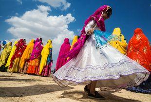 dance of bakhtiari girl