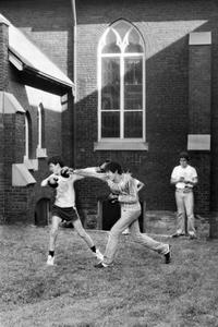 Boys Boxing, Galilee Presbyterian Church, Toronto, 1981
