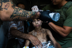 Tomas is eventually sent to the Euphrates district of Syria and then to Mosul in Iraq. He and many other children are taught to become IS 'child soldiers. He learned to use weapon, bombs and drive a car.