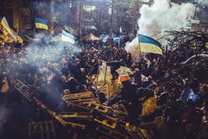 The first real attempt to clean Maidan was the night of December 10 to December 11, 2014.