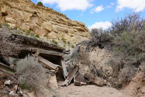 Abandoned Mining Camp, Colorado: Mine Shaft Entryway.