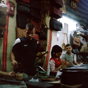 Leather makers, Fès, Morocco