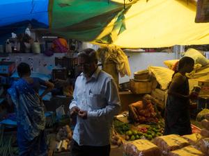 At the Goubert Market in Pondicherry
