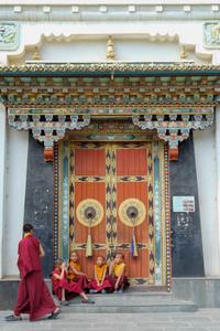 Monks of Ka-Nying Shedrub Ling Monastery, Boudha