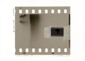 Missing Memory 16. Giclée print with collage of film negative. 30 x 40 cm