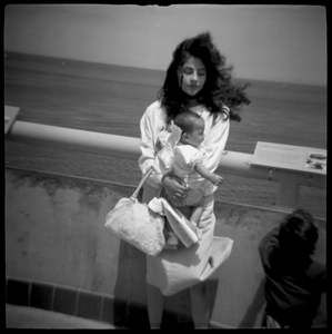 Woman with Baby, Monterey, CA