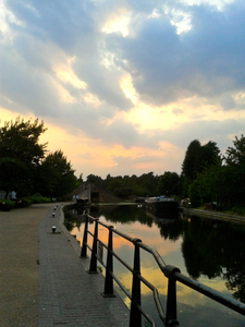Sunset Over The Canal