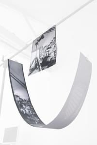 Photographing Robert Doisneau installation showing prints 1 & 2 work in progress