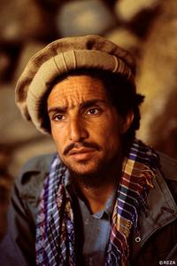 Portrait of Commander Massoud (1953-2001) during the Soviet invasion of Afghanistan (1979-1989). Afghanistan, Panjshir Valley, 1985.