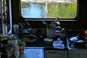 Narrowboat Galley Kitchen