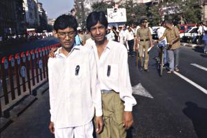 Anti Tax Protest, Bombay, India, 1990