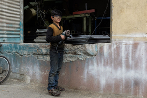 11 year old Abdul from Aleppo. His mother died in Syria and he is working everyday to support his ill father.