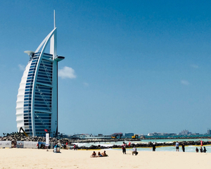 Skyscraper and Beach, Dubai