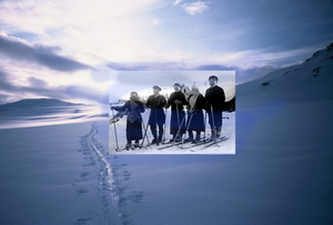 Journey in the snowy mountains