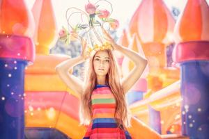 Inflatable princess
