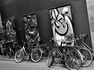 Bicycles and Graffiti, Amsterdam