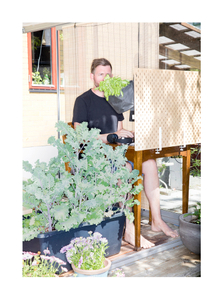 Jon Karlsson, designer. Homeoffice at the porch.