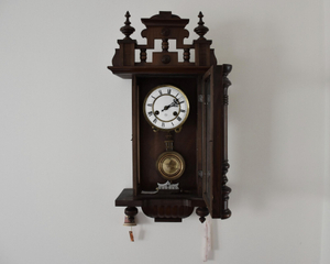 Clock on the wall. Gramps collected clocks.