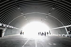 Germany, former hangar of British cold war bomberplane