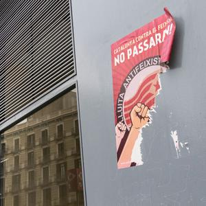 barcelona - antifascist poster