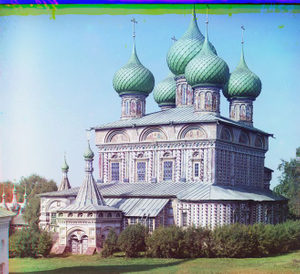 """Church of the Resurrection in the Grove of Kostroma, Russia, 1911 © Sergei Mikhailovich Prokudin-Gorskii, from the book """"Nostalgia"""". Images courtesy US Library of Congress and Gestalten publishers, Berlin."""