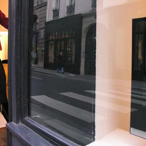 Window and street.  Rue Bonaparte. Paris 2007