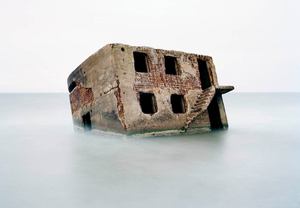 Latvia, Liepaja. Bunker in the Baltic Sea on a Soviet naval base.