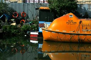 Orange Houseboat