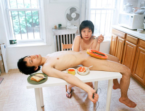 """Start your day with a good breakfast together. From the series """"Experimental Relationship"""" © Yijun Liao"""