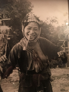A Laughing Hill tribe Woman outside Chiangmai, Thailand