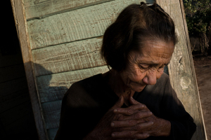 A woman lives in Valley of the Mgotes in Vinales, Cuba