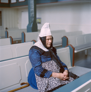Gertrude Lesch (b. 1921) in her Sunday dress for Lord's Supper at church, Marburger Land, Hessia, Germany, 2014. From the series: Village Queens. The last women in their traditional peasant garbs