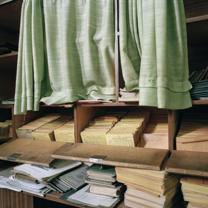 Engineer's archive at the Borovo shoe factory.  © Colin Dutton