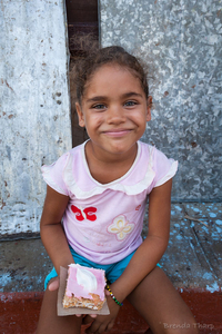 Girl with Cake, Havana.