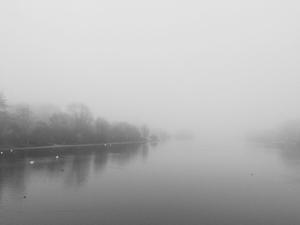 'Mist over the Serpentine', Kensington Gardens, London, 2016