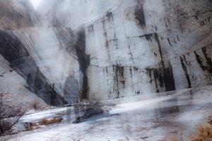 marble quarry, where vegetetion beggin to grow again